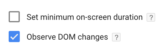 Element Visibility observe dom changes gtm